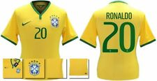 *14 / 15 - NIKE ; BRAZIL PLAYER ISSUE HOME SHIRT SS / RONALDO 20 = SIZE*