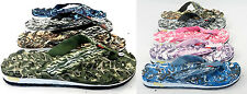 Men's Women's Flip Flops Beach Sandal Camouflage Thongs Massage Comfortable Sole