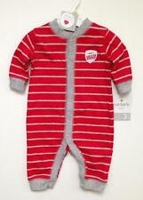 NWT Carters Baby Boy Clothes 1 Piece Jumpsuit Red/Gray Stripes MOST ELIGIBLE