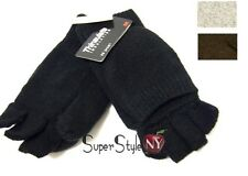 Fingerless Mittens Men's Women's Gloves Wool Insulated Warm Winter Snow Ski M/L