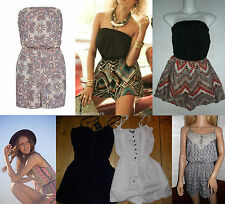 Primark Strapless PLAYSUIT Bandeau Top ETHNIC TRIBAL Shorts   6-20