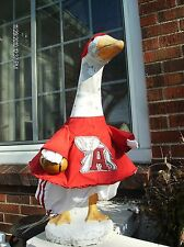 GOOSE CLOTHES 4 LAWN GOOSE COLLEGE FOOTBALL VARIETY ASK 4 YOURS CEMENT & PLASTIC