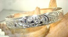 10MM BEH STERLING SILVER HAWAIIAN HEIRLOOM CUSTOM ENGRAVED PERSONALIZED BANGLE