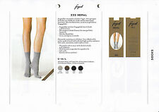 Fogal Nepal, socks, fine ribbed, made with silk and cashmere, soft cuffs
