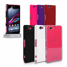 Yousave Accessories For Sony Xperia Z1 Compact Best Hard Tough Case Cover + Film