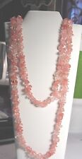 """Chip Style Endless Strand Natural Gemstone 34-36"""" Necklace In Gift Box"""