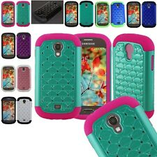 For Samsung Galaxy Light T399 T-Mobile Hybrid Hard Diamond Case Skin Phone Cover