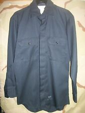 LION APPAREL NAVY BLUE UNIFORM LONG SLEEVE WORK SHIRTS, NEW, STYLE #1232