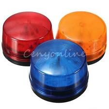 12V Security Alarm Strobe Signal Safety Warning Blue/Red Flashing LED Light