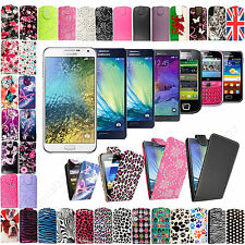 New Stylish Printed PU Leather Flip Case Cover For Various Samsung Mobile Phones