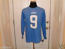 Detroit Lions Matthew Stafford #9 NFL Team Apparel Name & # Long Sleeve T Shirt