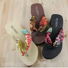 Fashion Women Summer Thick Bottom Flip Flops Sandals Beach Slippers Shoes 0012