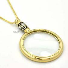 """New Crystal Magnifying Glass Inspirational Love is Pendant 31"""" Necklace SJ002GS"""