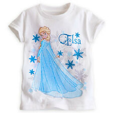 NEW NWT DISNEY STORE EXCLUSIVE FROZEN ELSA ICE QUEEN WHITE T-SHIRT SPARKLE