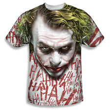 THE DARK KNIGHT - THE JOKER JOKER FACE SUBLIMATION PRINT T-SHIRT SIZES S - 3XL