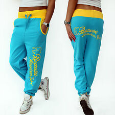 Women's Tracksuit Bottoms Joggers Fitness Boxer Pants Turquoise Yellow New