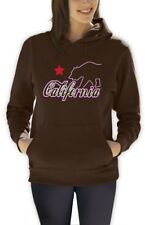 California Republic Purple Women Hoodie Los Angeles CALI Bear Diamond