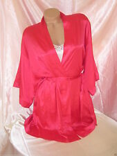 VICTORIAS SECRET CRIMSON SATIN ROBE BACKSTAGE WRAP KIMONO STARLETTE LUXURIOUS