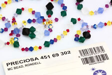 Genuine PRECIOSA Czech Crystal Rondell Bicone Beads * More Sizes & Colors