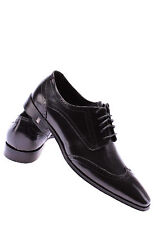 Men's Shoes Business VERSACE COLLECTION Leather Balck Elegant Made Italy Luxury