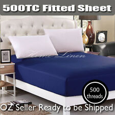 New Arrival 500TC Egyptian Cotton Fitted Bottom Sheet Double/Queen/King