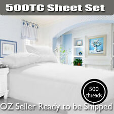 New Arrival 500TC Egyptian Cotton Full Sheet Set, Fitted 3PC Sheet Set