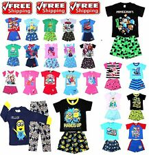NEW Size 1~12 BOYS KIDS PYJAMAS OCTONAUTS FROZEN MINION PJ PJS WINTER SLEEPWEAR