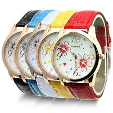 Stainless Steel Quartz Sport Fashion Elegant Leather Ladies Mens Wrist Watch