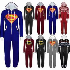 New Unisex Superman Batman Onesie Playsuit All In One Piece Jumpsuit