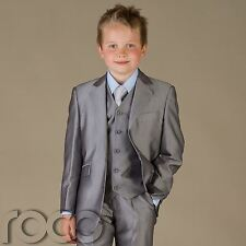 CHEAP SUITS FOR BOYS GREY WEDDING FORMAL AGE 0M-15 YRS