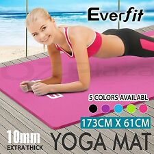 Non Slip 10mm NBR Yoga Mat Gym Pilates Fitness Exercise Balance Board Home