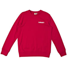 CARHARTT SUMMER COLLEGE SCRIPT SWEAT RED WHITE RRP £65