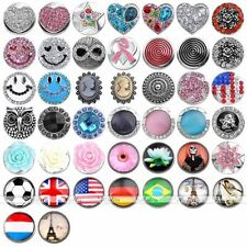 1x Fashion Snap Charms Resin Crystal Button Fit Popper Bracelet Bangle DIY Gift