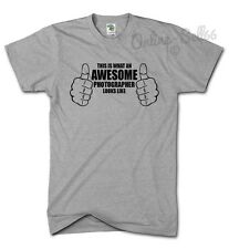 This Is What An Awesome Photographer Looks Like T Shirt Mens Womens Kids Top