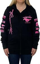 Nascar Ford Mustang Racing Pink Ladies Hoodie Zip Sweatshirt Jacket