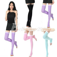 2014 HOT Women's Compression Burn Fat Thin Sleeping Socks Stockings Candy Colors