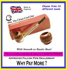 FALCON STRAIGHT PIPE DENTAL  MOUTHPIECE WITH CHOICE OF 16 DIFFERENT BOWLS