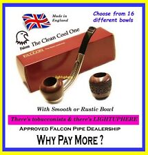 FALCON BENT PIPE EASI-GRIP  MOUTHPIECE WITH CHOICE OF 16 DIFFERENT BOWLS