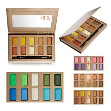 10 Color Waterproof Not Easy to Smudge Eye shadow Palette Makeup + Brush #D2