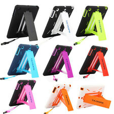 Hybrid Heavy Duty Shockproof Case Hard Cover Stand for Apple iPad Series +Stylus
