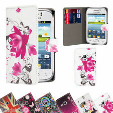 PU LEATHER WALLET CASE COVER FOR SAMSUNG GALAXY YOUNG S6310 + SCREEN PROTECTOR