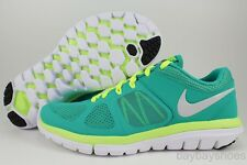NIKE FLEX 2014 RUN TURBO GREEN/VOLT YELLOW/SILVER/WHITE RUNNING FREE 2013 WOMENS