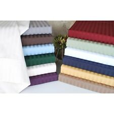 Luxe Collection Damask Sateen Stripe 400 Thread Count Sheet Set Sheets
