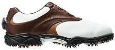 2014 Footjoy FJ Contour Series Golf Shoes BOA lacing Brown White Taupe