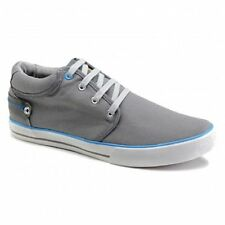 Front REEF Mens Canvas 4 Eye Lace-Up Comfy Padded Casual Summer Deck Shoes Grey