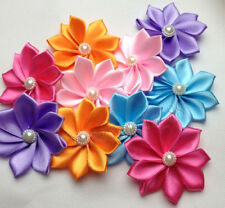 20pcs Satin Ribbon  Ribbon Flowers Wedding Decor Sewing Appliques DIY Craft