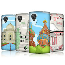 HEAD CASE DOODLE CITIES SERIES 3 BACK COVER FOR LG GOOGLE NEXUS 5 D821