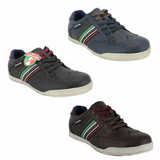 Mens Lambretta Casual Lace Up Trainers Shoes Sizes 6 8 9 10 11 - Black or Navy