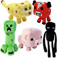 Official Minecraft Soft Plush Toys - Creeper, Enderman, Baby Pig, Baby Mooshroom