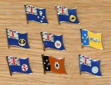 AUSTRALIAN STATE Flag Metal Lapel Pin Badge Australia